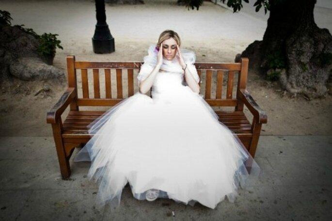 Robe de mariée courte ou longue : une vaste question ! -Photo : Cesc Giralt