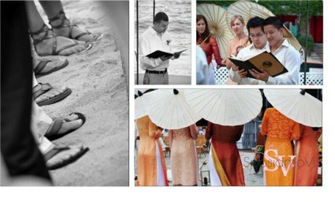 Una boda de estilo oriental - Fotografía: SposiamoVi