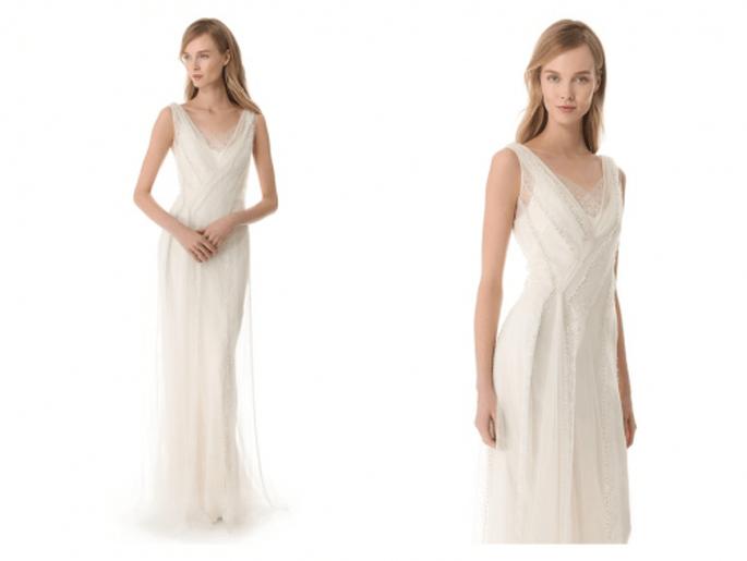 Vestido de novia con silueta simple y vanguardista de Temperley - Foto Shop Bop