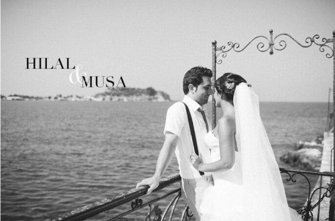 Die zweite Hochzeitsfeier feierten Hilal und Musa ganz romantisch am Strand – Foto: Nadia Meli