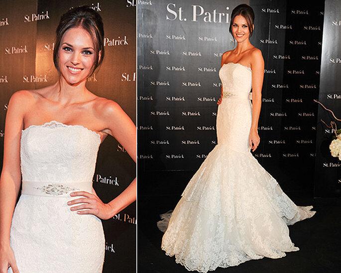 Helen Lindes, en la presentación de la colección de vestidos de novia 2012 de St. Patrick