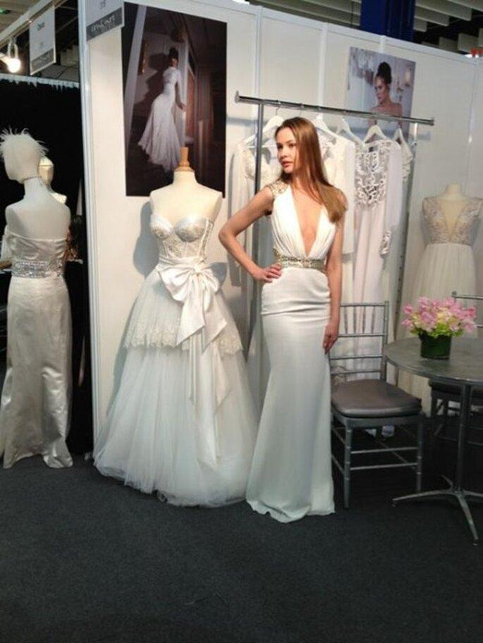 Vestido de novia de Yaki Ravid presente en el bridal market - Foto Yaki Ravid