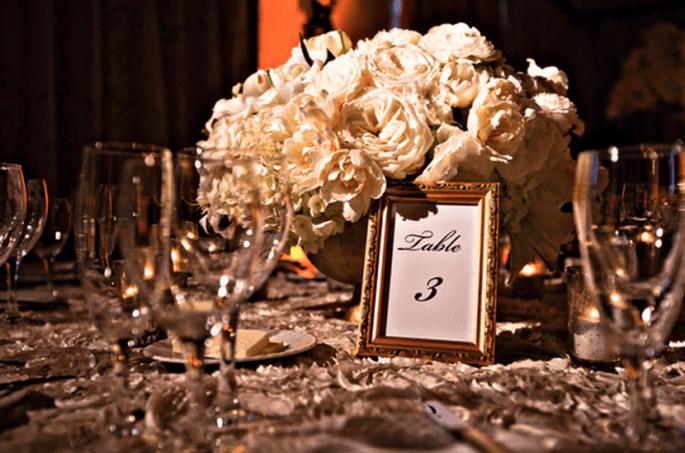 Decoración de mesas de boda inspirada en la Navidad - Foto Joy Marie Photographers