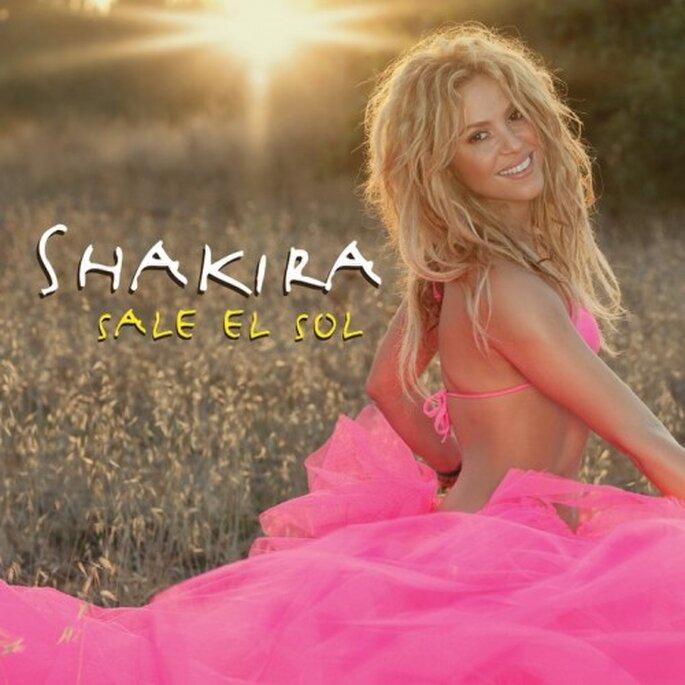 """Shakira promocionando """"Sale el Sol"""" - Foto Shakira Facebook"""
