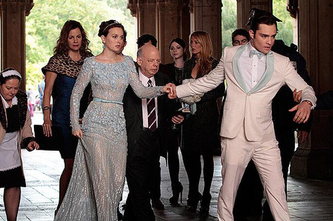 La deuxième robe de mariée de Blair, une création d'Elie Saab
