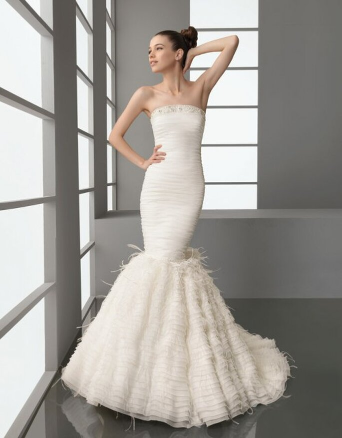 Vestido de novia corte sirena, Aire Barcelona 2012