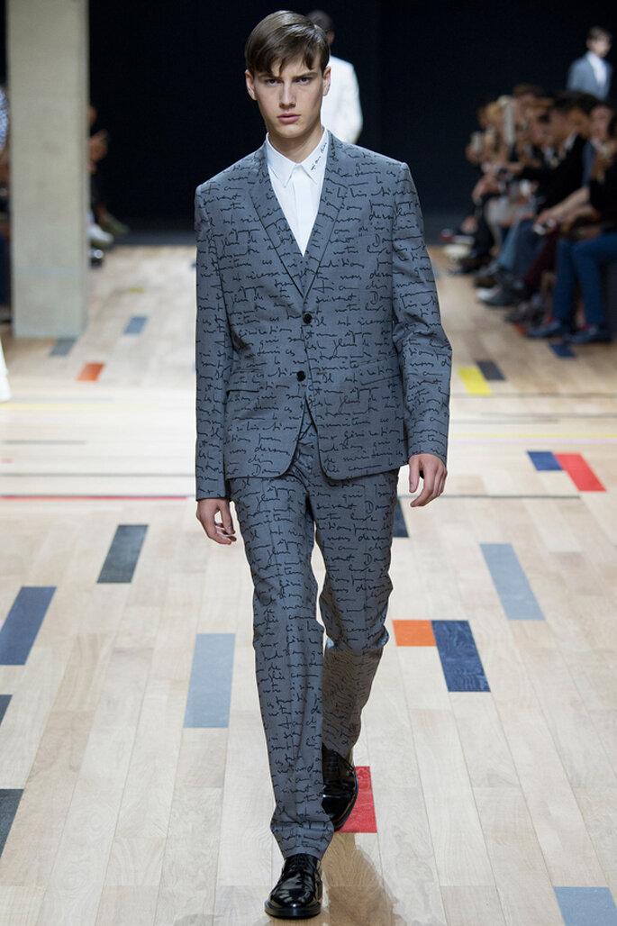 Tendencias masculinas para los novios del 2015. Foto: Dior Homme