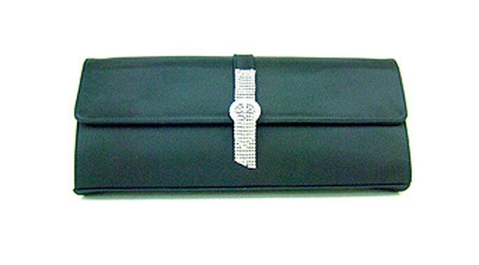 Bolso de mano pequeño en raso de Castañer con cierre de strass