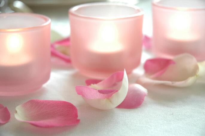 Photophores pétales de rose : de toute beauté