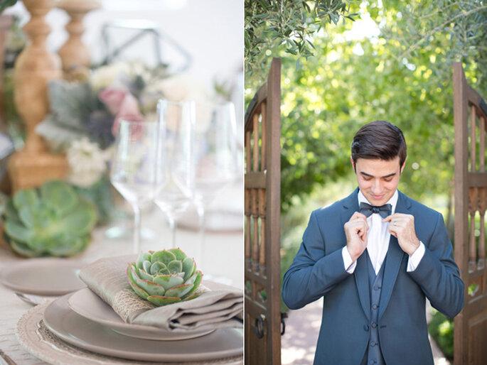 Lo mejor de la geometría en una decoración perfecta para tu boda - Foto Amy and Jordan