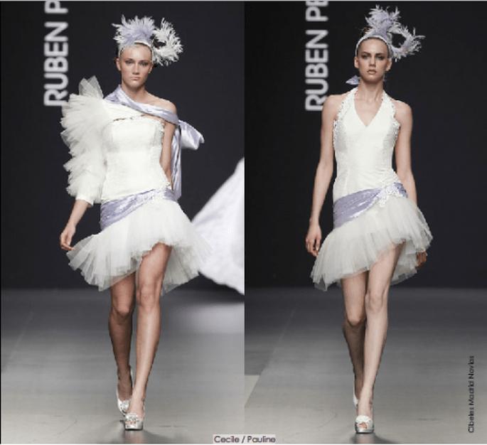 Vestidos Cecille y Pauline, colección 2012 Rubén Perlotti