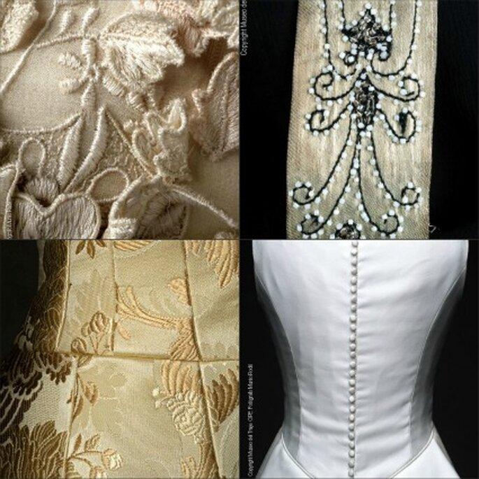Detalles de algunos de los vestidos de novia Chus Basaldúa