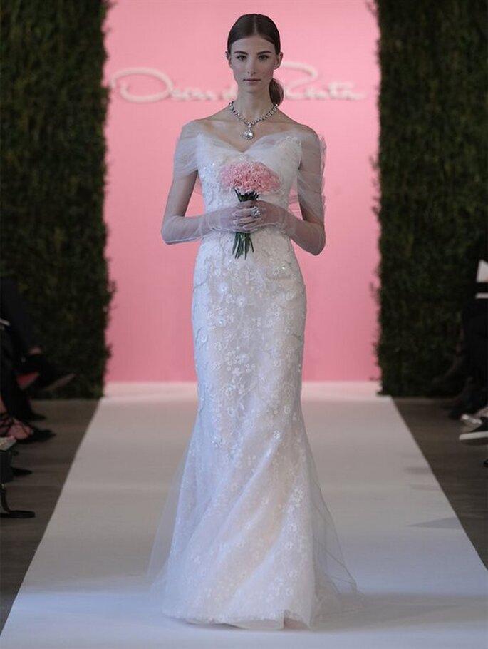 Vestido de novia de Oscar de la Renta Colección - Primavera 2015. Foto: www.oscardelarenta.com