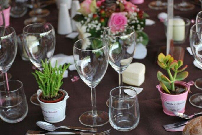 Des cadeaux d'invités décoratifs : deux en un ! - (C) Préparationmariage.com