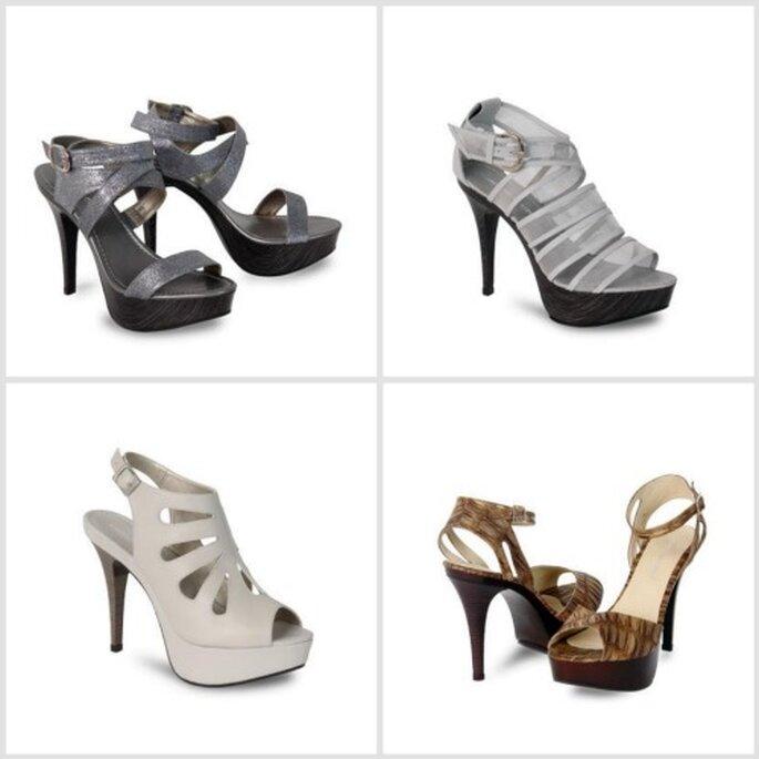 Sandalias diseñadas por Carolina Cruz. Fotos: www.calzatodo.com.co