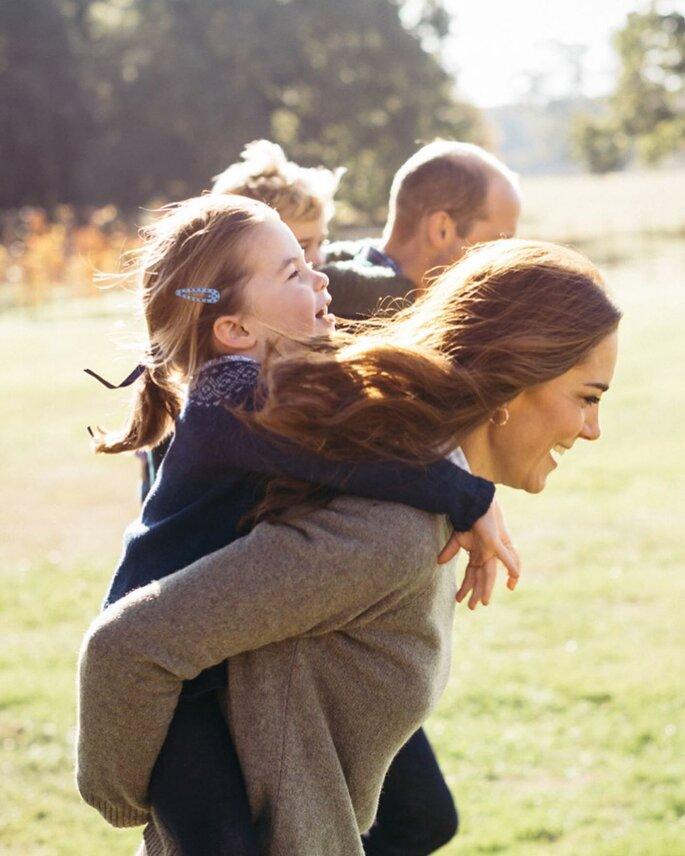Kate Middleton e William com os filhos