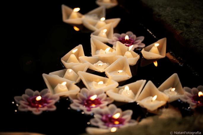 Velas originales y aromáticas para tu boda. Imagen Natan Fotografía