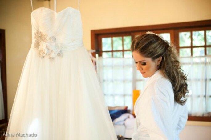 L'automne : une saison parfaite pour sublimer la beauté de la mariée - Photo : Aline Machado