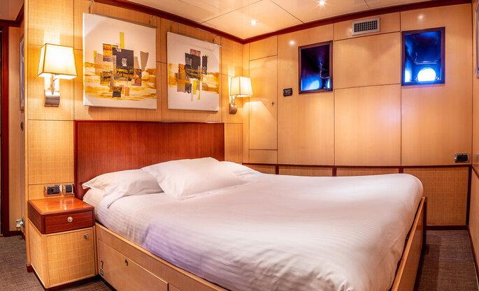 Suite du Yacht Clara One pour loger les mariés