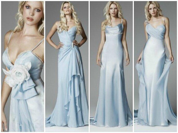Bellissimi questi modelli in azzurro della Collezione 2013 di Blumarine Sposa. Foto www.blumarine.com
