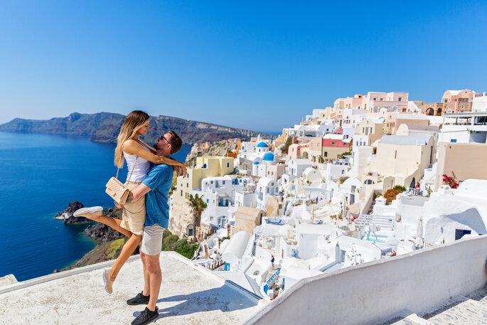Santorines vía Shutterstock