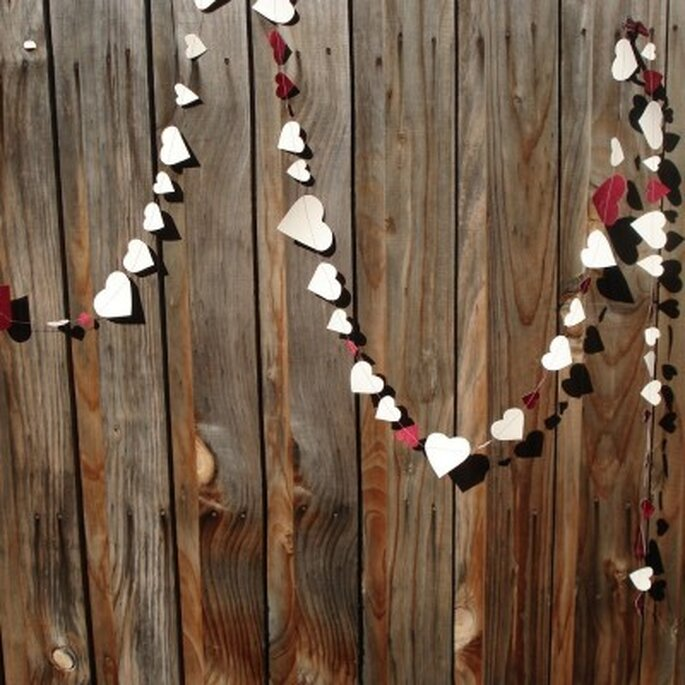 String of Hearts Paper Garland