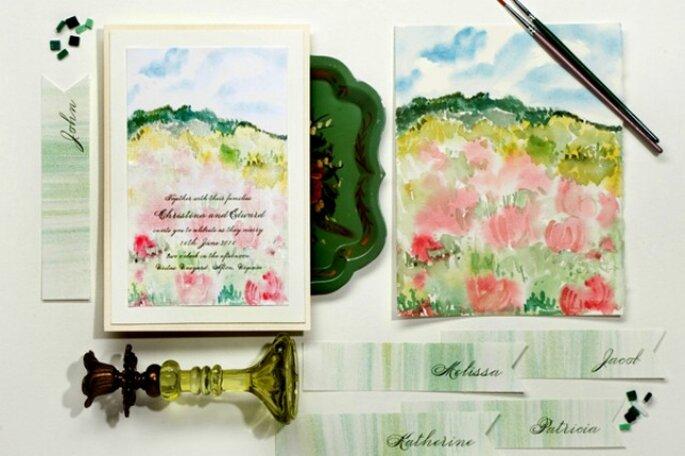 Inviti Matrimonio in acquerello