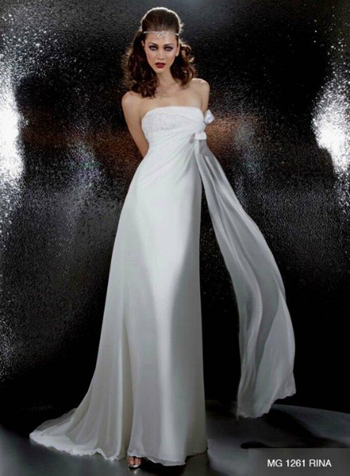 3642dbca9fe3 Abito da sposa semplice e dalla silhouette fluida. Gritti Spose Collezione  2012