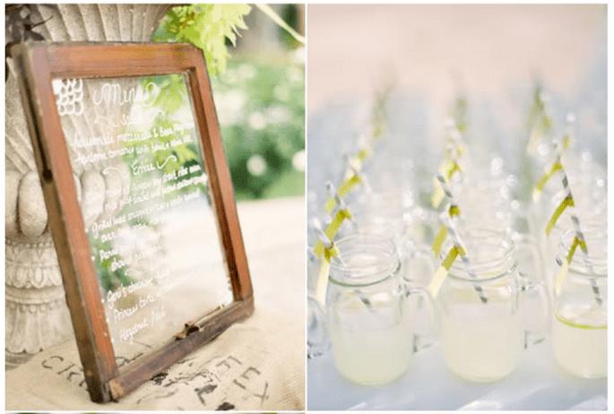 Décoration de mariage avec vases en cristal - Photo Jose Villa