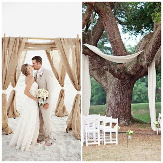 Quelle décoration pour votre cérémonie laïque en plein air ? - Source : Pinterest - carnet de mariage / http://pinterest.com/cdemariage/boards/ https://www.carnetsdemariage.tumblr.com