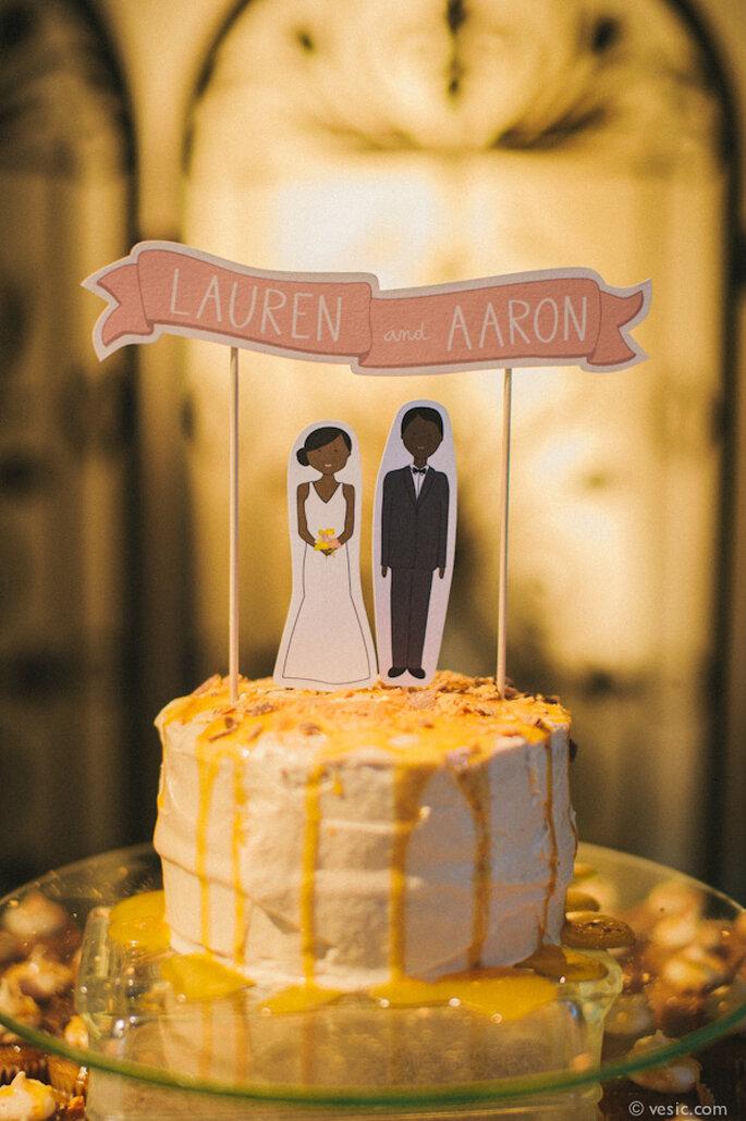 Muñecos originales para el pastel de bodas - Foto Vesic Photography
