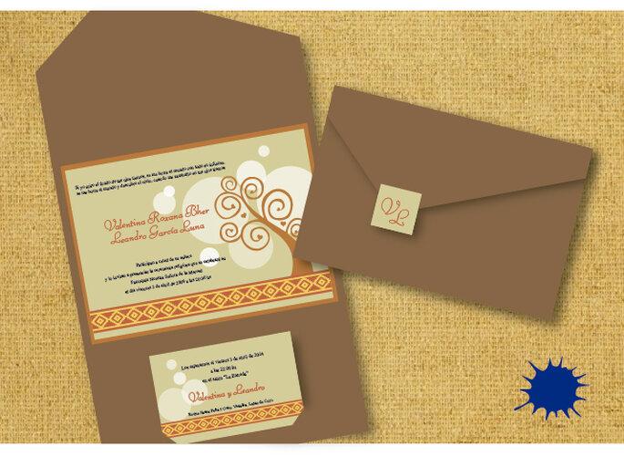 Tendencias originales para invitaciones de boda. Foto: entinta.me