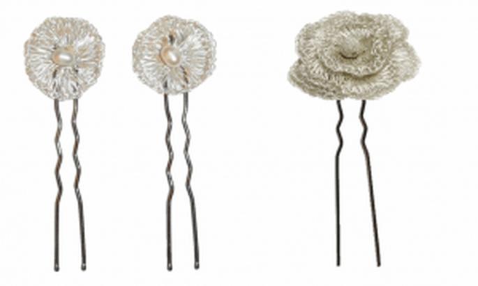 Accessoires pour coiffures de mariée Rosa Clará 2011 : épingles à cheveux