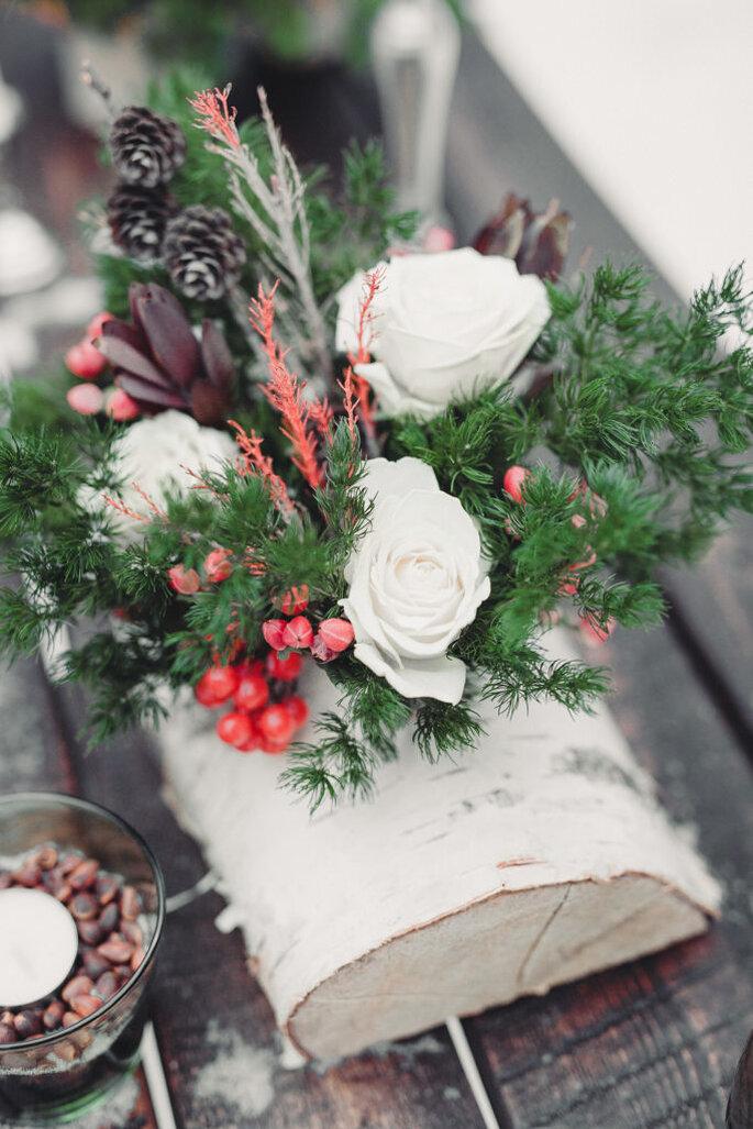decoracion invierno mesa