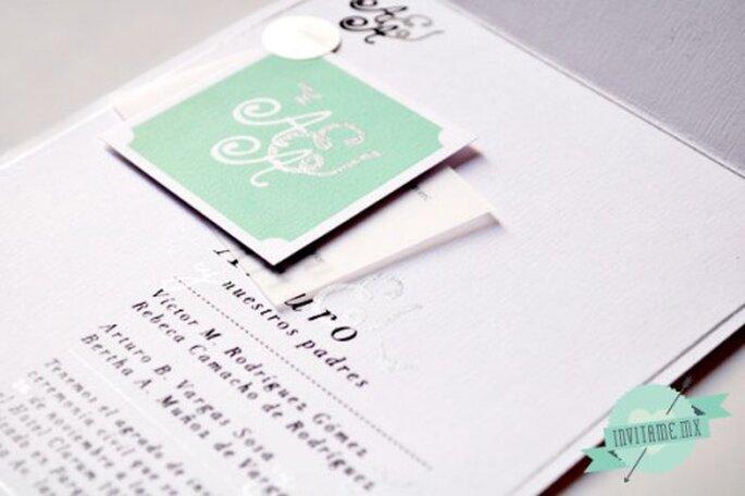 Invitaciones de boda originales. Fotografía invitame.mx