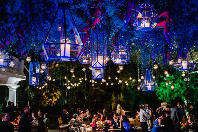 Luminárias para decoração do casamento