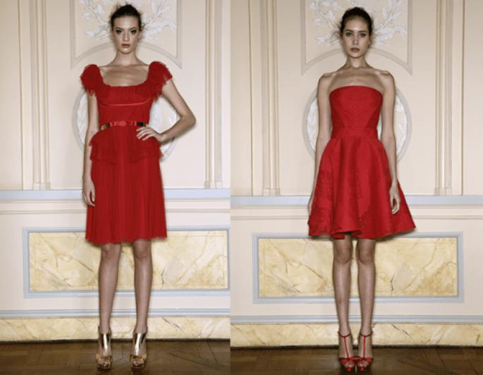 Vestidos de fiesta cortos para boda en 2013 en color rojo intenso - Foto Zuhair Murad