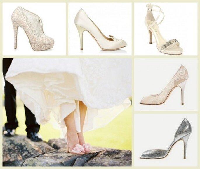 Zapatos de lujo para novia - Fotos: Charlotte Olympia, Nicole Miller y Monique Lhuillier