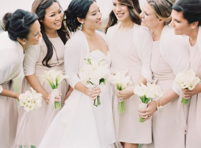 El color rosa neutro es perfecto para marcar la armonía con tu look - Foto Vicki Grafton Photography