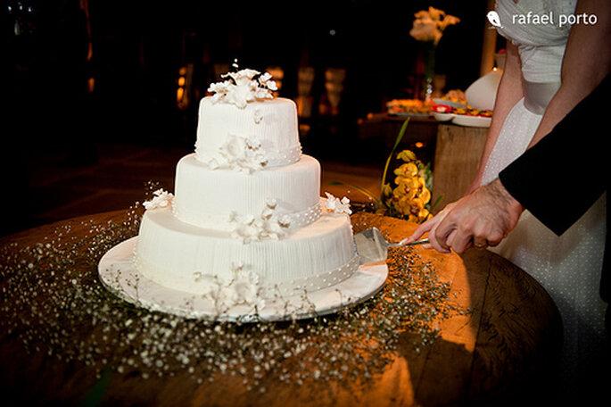 El ponqué blanco sigue siendo uno de los clásicos de las bodas. Foto: Rafael Porto