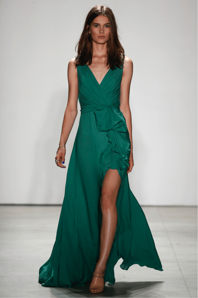 Vestido Madrinha Longo Greenery