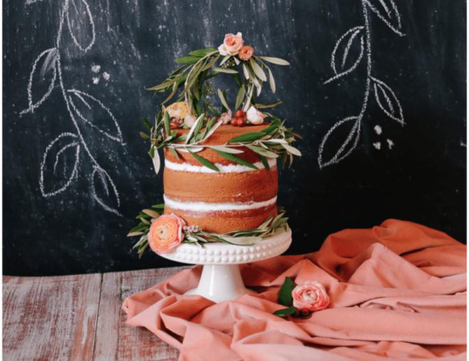 El naked cake, la tendencia más deliciosa en pasteles de boda - Foto Annabella Charles