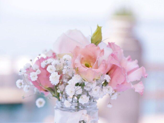 Rosafarbenes Blumengesteck.