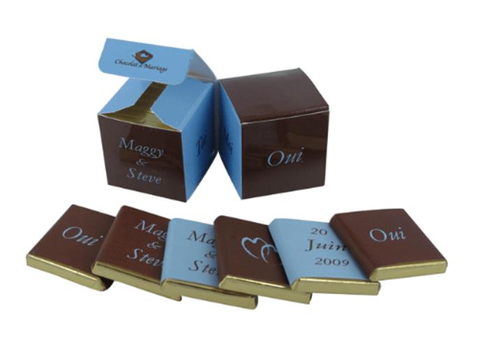 Des chocolats comme cadeaux d'invités, quoi de plus savoureux ? - Photo : Chocolat de Mariage
