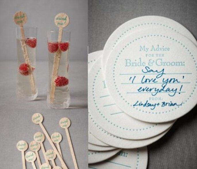 Decoración para boda vintage. Foto de BHLDN.
