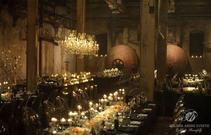 Boda de lujo en un sótano de Toronto. Wedding Planner: Melissa Andre. Foto: Mango Studios