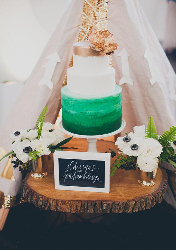 El pastel de bodas perfecto para armonizar con esta inspiración - Foto Mr Haack