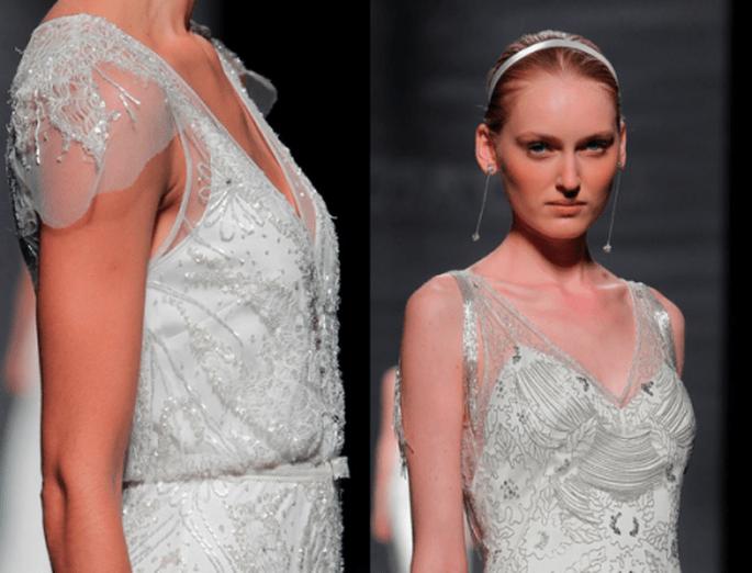 Detalles de incrustaciones en los vestidos de novia para primavera 2014 - Foto Rosa Clará
