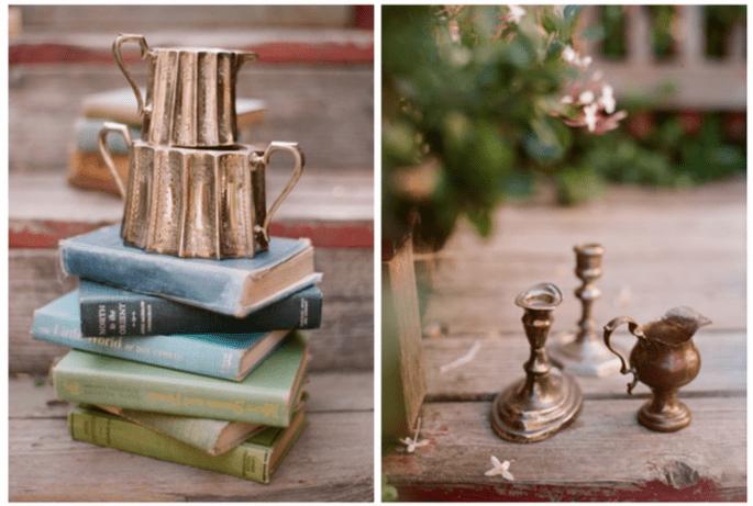 Objetos avejentados harán la diferencia en el diseño de tus centros de mesa - Foto Beaux Arts Photographie