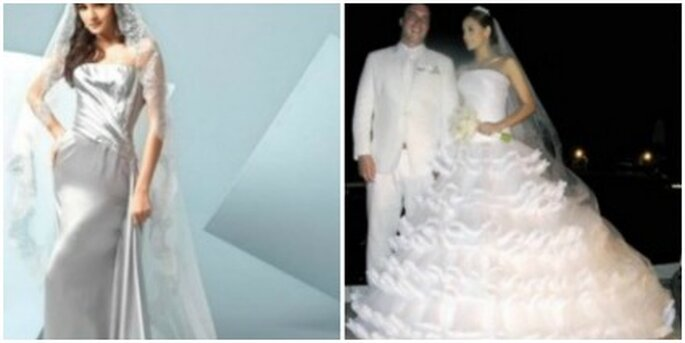 Vestidos diseñados por Alfredo Barraza